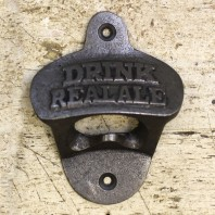 """Drink Real Ale"" Iron Bottle Opener"