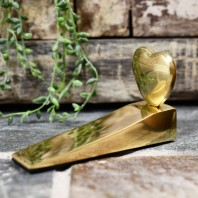Brass Chubby Heart Door Wedge