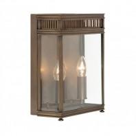 """Farstede Place"" Bronze Twin Bulb Wall Lantern"