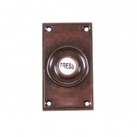 'Eddison Hall' Burnished Copper Wide Bell Push