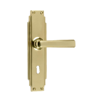"""Gatsby"" Edwardian Lockable Lever handle"