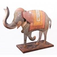 """Siddhi"" Decorative Iron Elephant Sculpture"