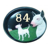 House Sign - Hand Painted - English Bull Terrier
