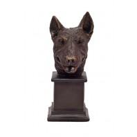English Bull Terrier Dog Bust