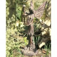 Fairy Garden Sculpture Holding Lantern