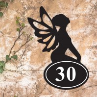 Fairy Iron House Number Sign