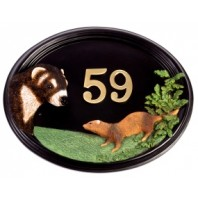 House Sign - Hand Painted - Ferret