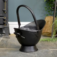 """Waterloo"" Black Iron Coal Bucket - 43cm"