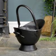 """""""Waterloo"""" Black Iron Coal Bucket - 43cm"""