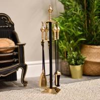 """Trafalgar"" Black Iron & Brass Companion Set 61cm"