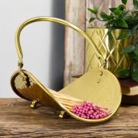 """""""Pringle"""" Polished Brass Match stick holder"""