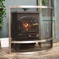 """Claybridge Square"" Contemporary Arched Fire Screen"