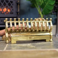 """Henley"" Polished Brass Fire Front 16"""