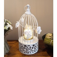 Flowered Bird Cage Candle Holder
