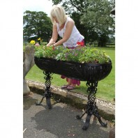 Black Highgate Free Standing Trough Planter