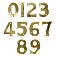 "3"" Polished Brass Face Fix Numbers"