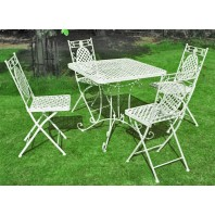 """Aunt Hilda"" Vintage Garden Tea Set Table & Chairs"
