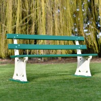 """Parklands"" Cast Metal and Wood Bench"