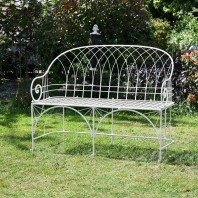 """The Claire"" Wrought Iron Bench"