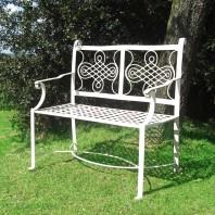 """""""Devonshire"""" Wrought Iron Garden Bench"""