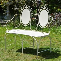 """Lady Josephina"" Cameo Two Seater Garden Bench"