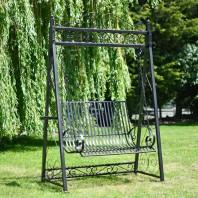 """Black """"Briar Rose"""" Garden Swing Seat"""