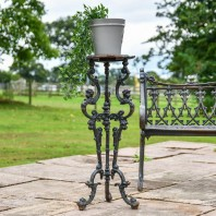 'The Chester' Long Gothic Aged Black Cast Iron Side Table