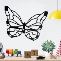 Geometric Butterfly Steel Wall Art