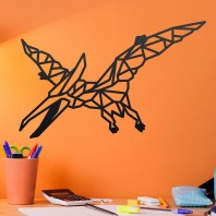 Geometric Steel Pterodactyl Wall Art - 22cm