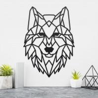 Geometric Steel Wolf Wall Art