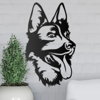German Shepherd Steel Wall Art