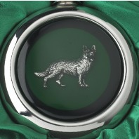 German Shepherd Whiskey Flask