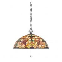 """""""Melcombe Park"""" Glass Flower design Hanging Ceiling Light"""