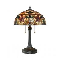 """Rembury Place"" Glass Flower Design Table Lamp"