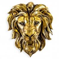 Gold Effect Lion Wall Bust - 48.5cm