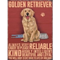 Golden Retriever Metal Sign