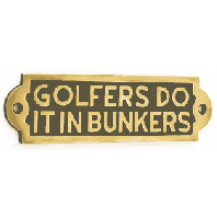 Golfers Do It In Bunkers
