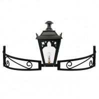 Black Gothic Bow Bracket Light
