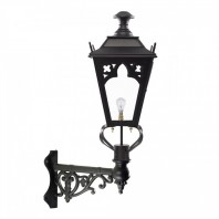 Black Gothic Wall Lantern on Corner Bracket 84 x 37cm