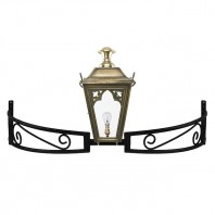 Antique Brass Gothic Bow Bracket Light