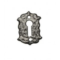 Gothic Style Antique Black Iron Escutcheon / Key Hole Cover
