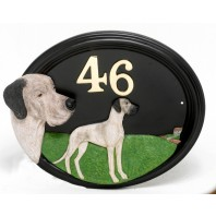 House Sign - Hand Painted - Great Dane