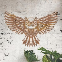 """""""Great Horned Owl"""" Rustic Wall Art"""