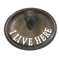 House Sign - Great Dane - I Live Here