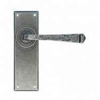 """Thornton"" Hammered Pewter Contemporary Door Handles"
