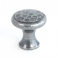 Hammered Pewter Small Cabinet Knob
