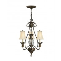 """Hillersbrook Manor"" Hanging Light With Crystal Effect Pendant"