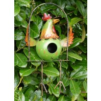 Hanging Rooster Bird House