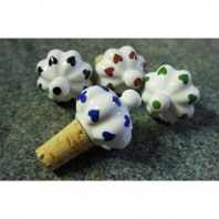 """Delightful Demilano"" Ceramic heart bottle stoppers"