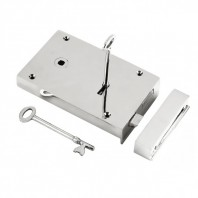 """Hillersdon"" Large Chrome Rim Lock - Left Hand Door"